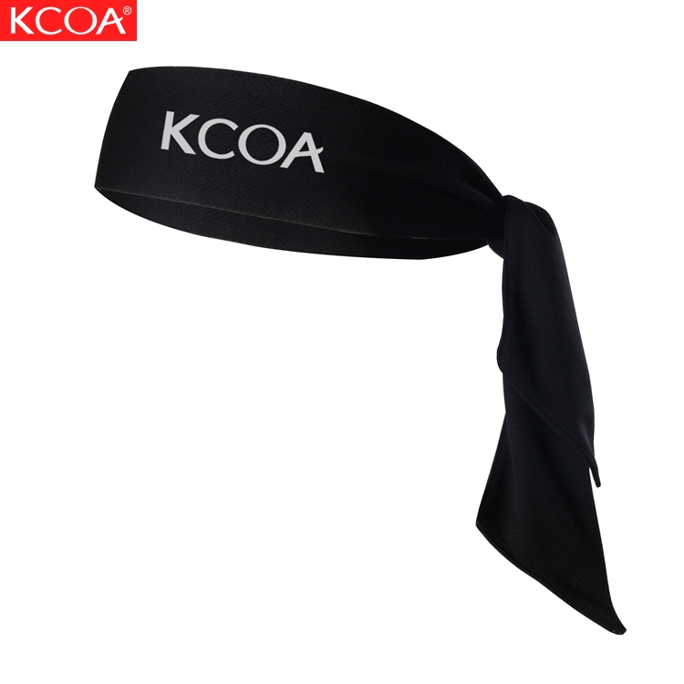 KCOA Wholesale High Quality Stretch Sports Mesh Fabric Tie Sweatband Custom <strong>Headband</strong> For Men