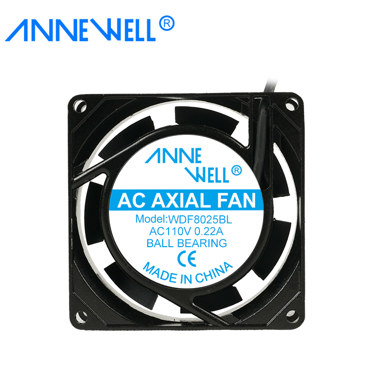 Waterproof <strong>Ac</strong> 80x80x25mm 8025 Brushless 110 Volt Cooling Axial Fan 80mm Fan