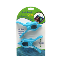Souvenir custom animal shape plastic beach towel clips