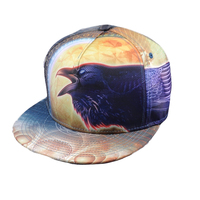 Custom fitted 3d full printing image snapback cap hat