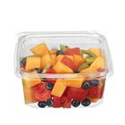 Wholesale disposable ripping strip take away food Fruit Salad blister clamshell clear packaging container
