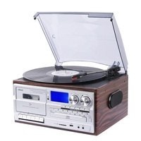 Bluetooth play turntable record player CD play cassette play AM FM radio stereo phonograph