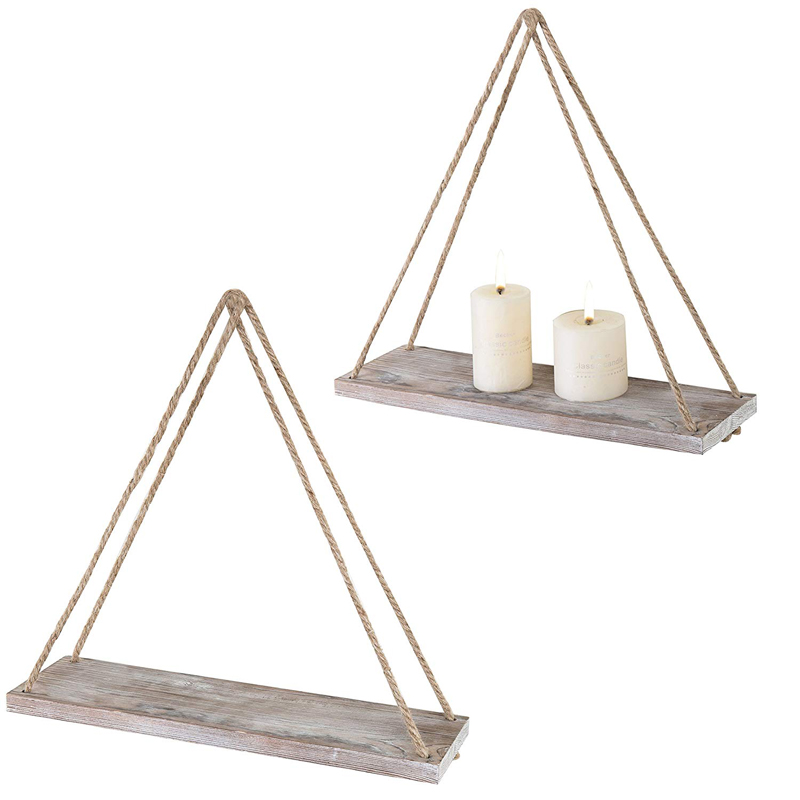 New arrival vintage shelf wooden wall floating storage shelf with metal pipe