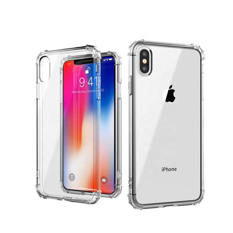 Strong Shock Resistance Transparent TPU Cell Glitter Phone <strong>Case</strong> For iPhone X Xr Xs Max