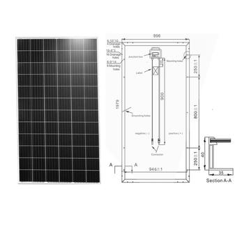 72 pcs Big Size  cells 380w monocrystalline solar panel 400w mono pv