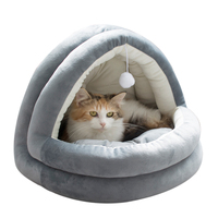 Manufacturer Custom Warm Cat Bed House with Ball Toys Pet Bed for Cats and Dogs Pet Supplies