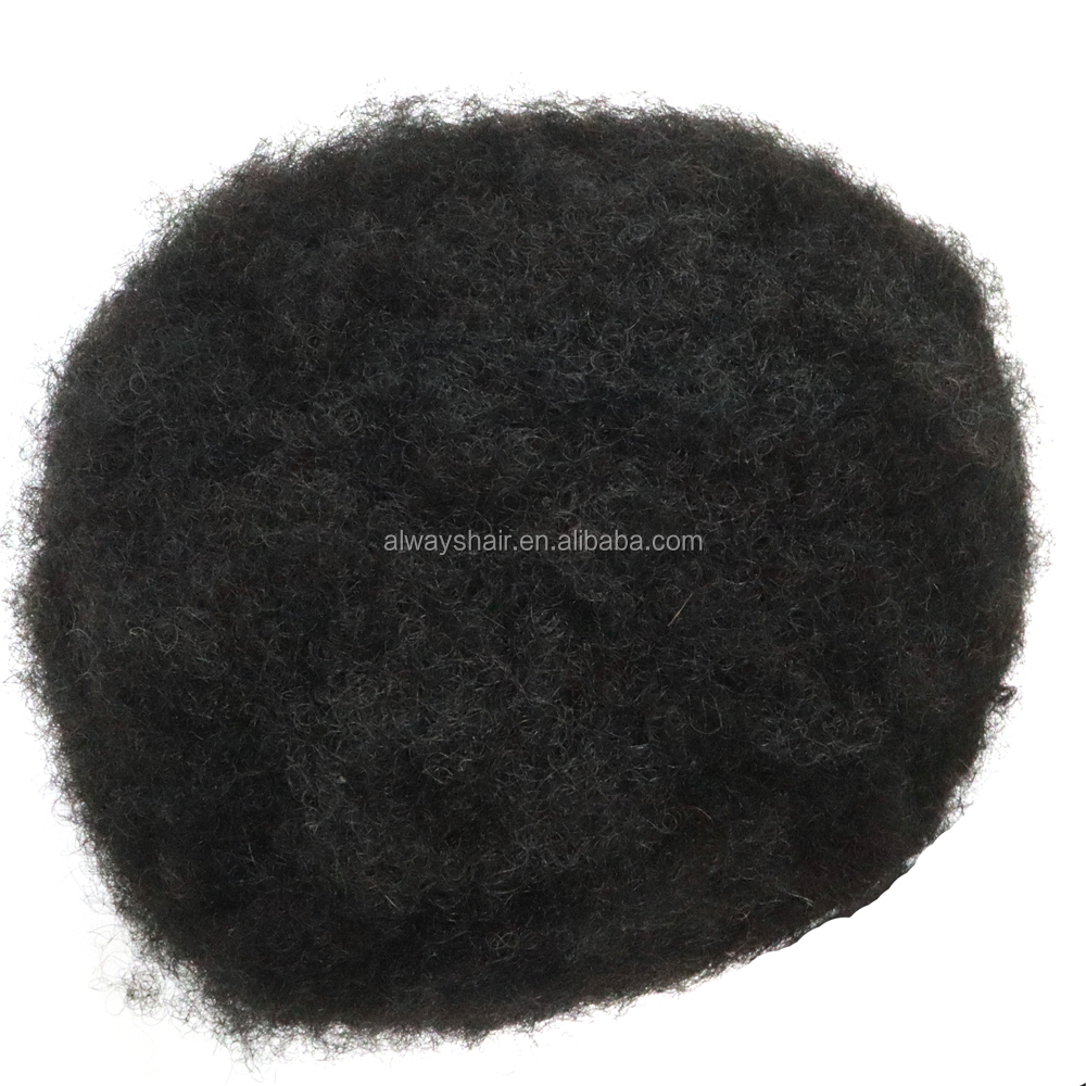2mm 4mm 6mm 8mm 10mm 12mm 15mm Small Curl Afro Toupee for Black Men with Poly Skin Base 100% Human Hair