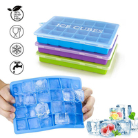 China Factory Direct Sale 24 Cavity Silicone Ice Cube Handmade Chocolate Gummy Candy DIY Mold