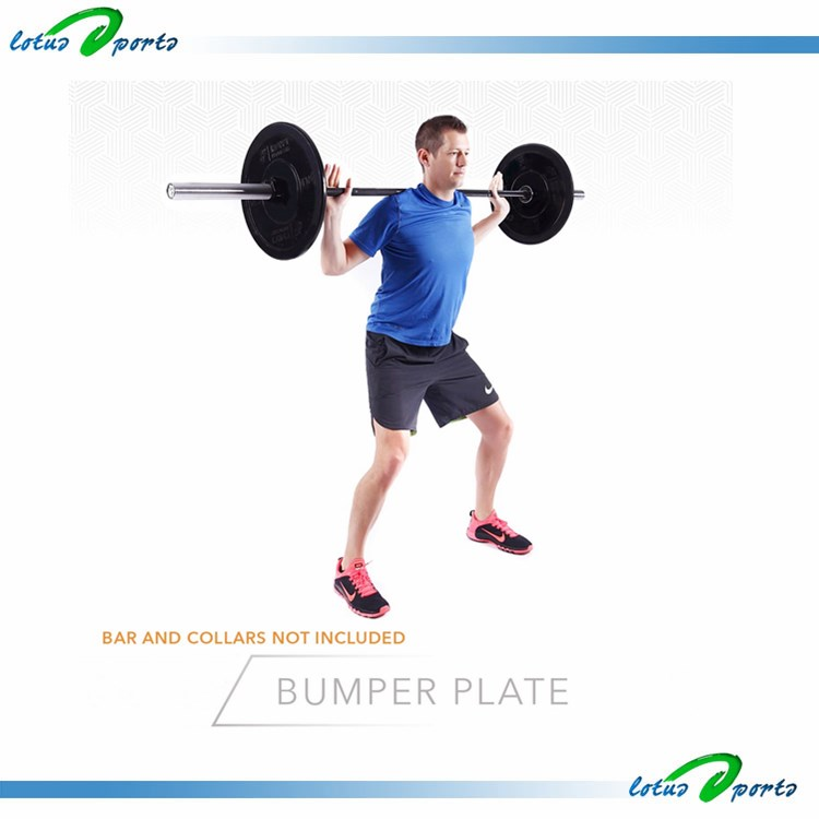 Fitness Bumper Rubber Colored Weight Plate