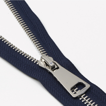 Good quality white gold teeth 3# metal zipper custom color zipper for garment home textile