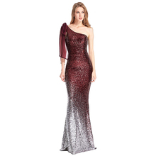 Latest design wholesale fashion one shoulder sequins evening <strong>party</strong> <strong>dress</strong>