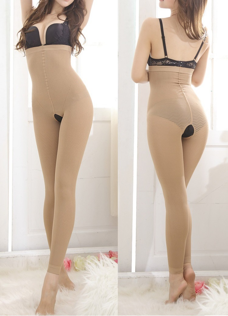 Postpartum High Waist to Breast Open Crotch Slimming Body Shaper Black Butter Lift Waist and Thigh Shapers Legging