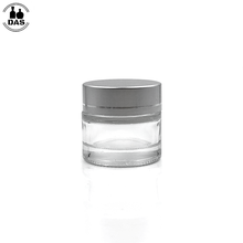 Refillable 10g Glass Cosmetic Cream Jar Bottle <strong>Container</strong> with Silver Alumite Lids