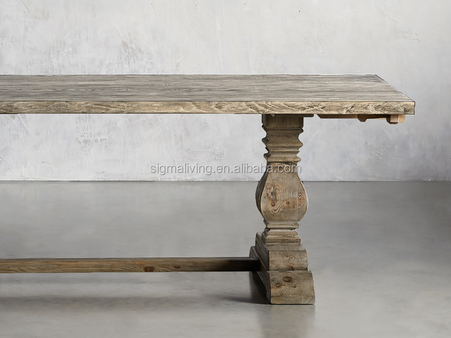 Classic beautifully varied indoor furniture wood dining table