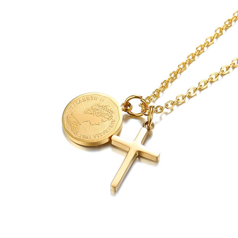 Dylam jewelry Fashion 2020 Hot Sale Stainless Steel Wholesale 18k Gold plated Palomas Tenderness Cross pendant necklace