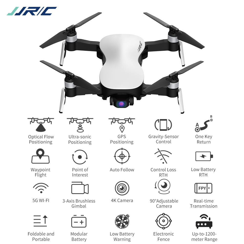 2019 New JJRC <strong>X12</strong> Anti-shake 3 Axis Gimble GPS Drone with Brushless Motor and WiFi FPV 4K HD Camera Foldable Quadcopter Vs H117s