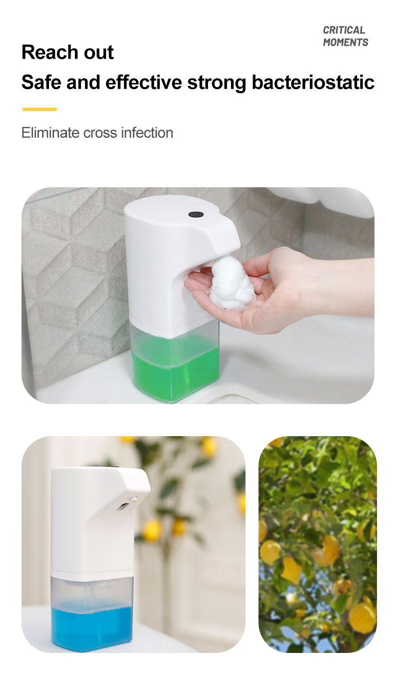 Professional Spring Pump Hand Free Automatic Foam Dispenser Table Top