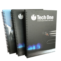 Cheap Custom high quality hardcover spiral binding bulk notebooks printing