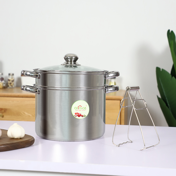 Factory cheap wholesale restaurant hot pot double layer stainless steel soup pot with clamp.jpg