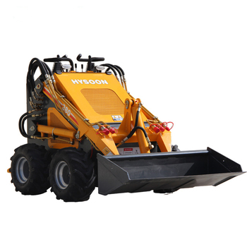 China 23HP HY380 HYSOON mini skid steer loader com acessórios