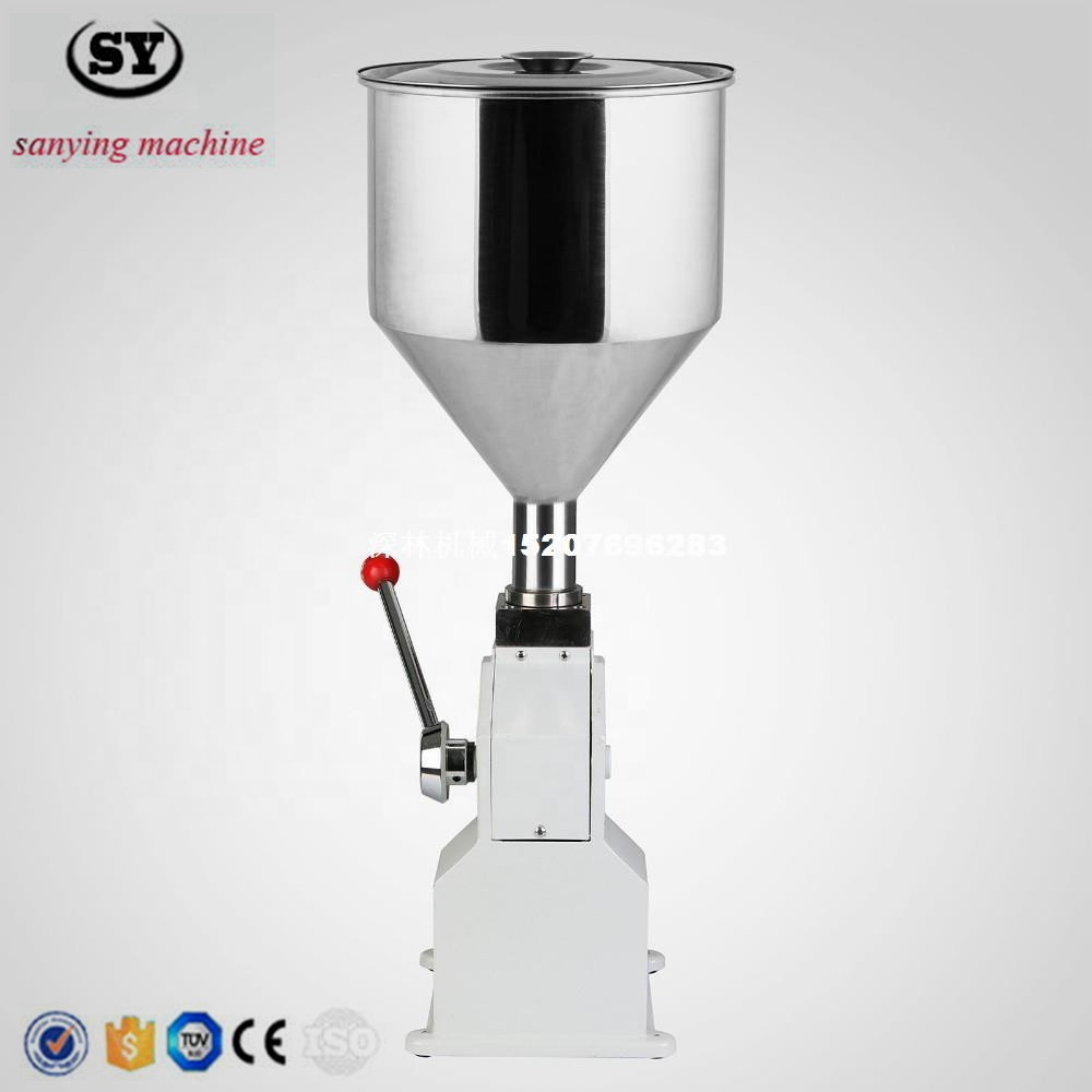 <strong>A03</strong> Manual liquid paste cream honey filling machine