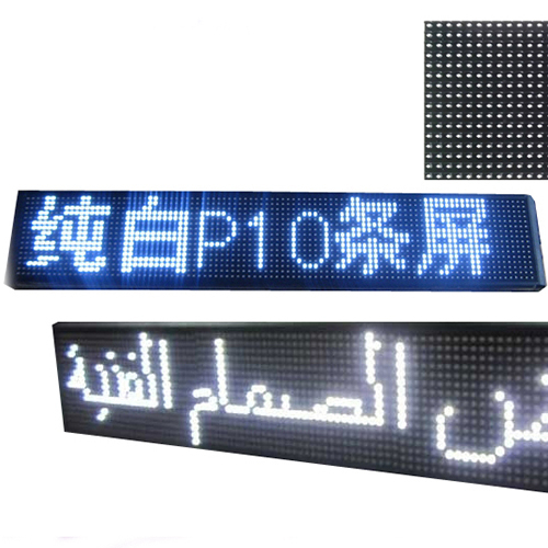 32x16dots DIP <strong>P10</strong> single white color <strong>led</strong> display <strong>module</strong> for restaurant