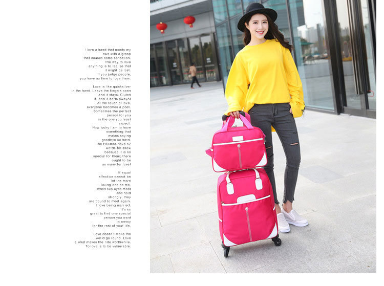 37L lightweight slim small business women ladies luggage trolley wheeled laptop bag