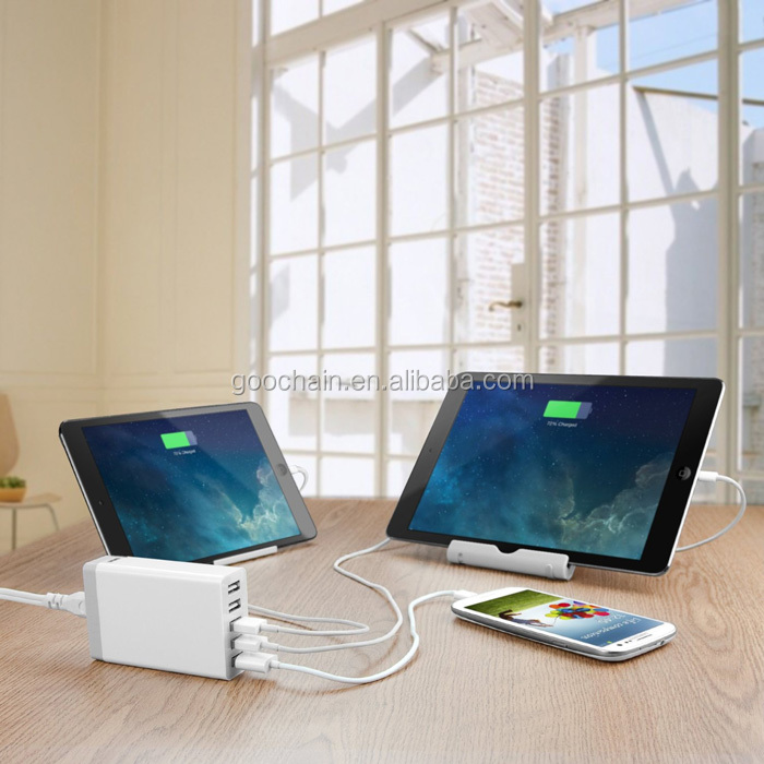 Portable Wallmount desktop dipertukarkan colokan Smart USB 5V 2/3/4 5 port usb charger untuk ponsel usb dinding charger