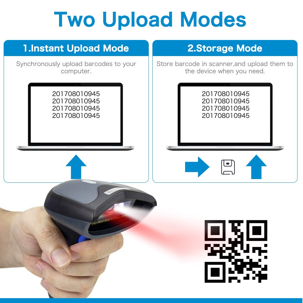 High Quality Hand Held 2D Wireless Bluetooth Barcode Reader Scanner