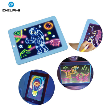 3D Magic Drawing Pad Amazon New Arrival Christmas Gift Kids Toys magnetic freeze light fluorescent drawing board