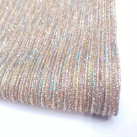 2019 China Iridescent Polyester Metallic Foil And Pleated Metallic Color Moonlight knitted Fabric
