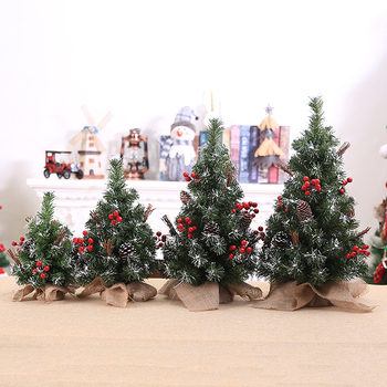 Merry Christmas Tree Bedroom Desk Decoration Mini Xmas Christmas Tree Desktop Ornament for Office Home Decoration