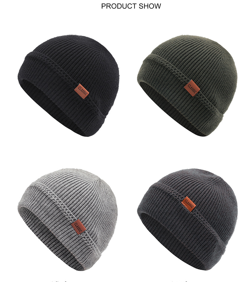 Custom Keep warm high quality winter hats knitted skull cap