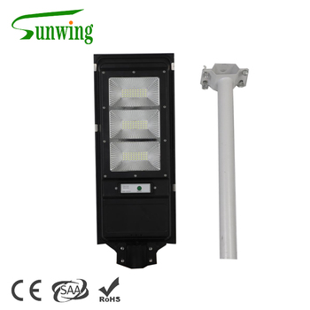 Solar public light radar sensor light control all in one solar street light with support arm