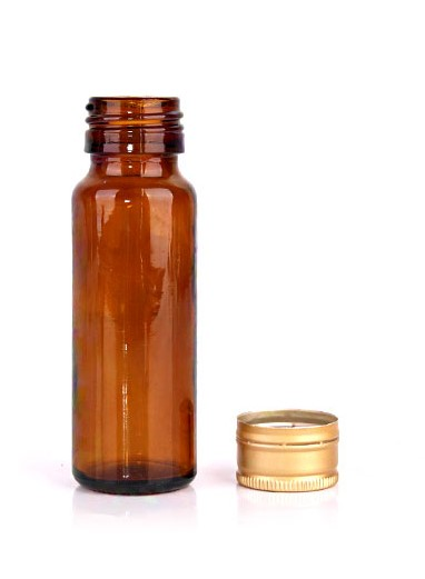 25ml 60ml amber glass bottle with screw cap for essential oil glass jars