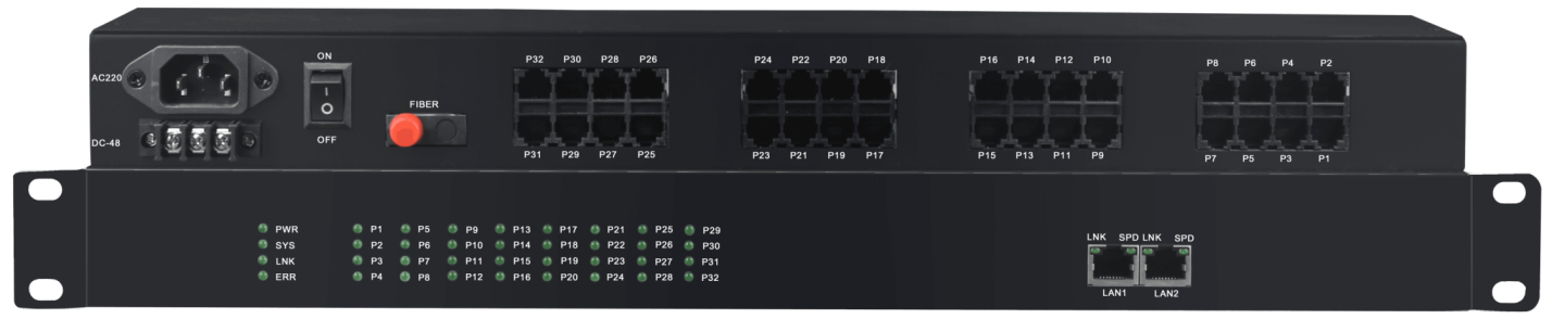 FCTEL 32voice fxo fxs rj11 pots over fiber  with 2 ethernet ports