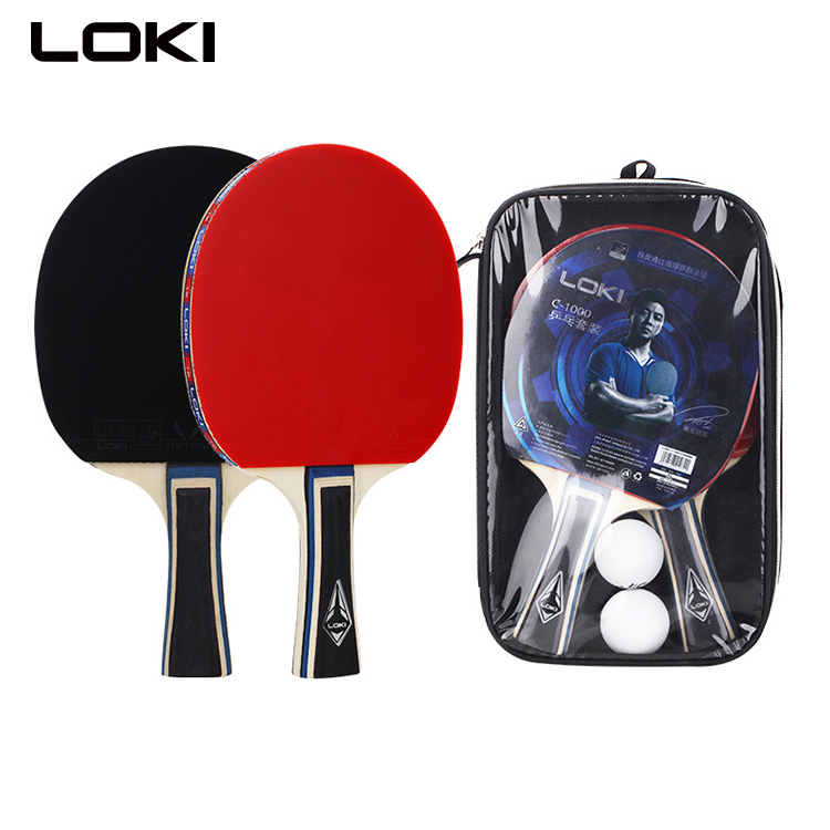 LOKI <strong>C1000</strong> table tennis racket set with two rackets two balls table tennis racket case