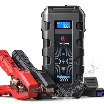 TOPDON 20800mAh 2000A Car Jump Starter Power Bank Portable Car Battery Booster Charger for 12V Starting Device Petrol Diesel Car