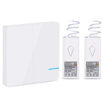 Tuya Smart wifi switch and wifi smart home wireless remote control switch with 433Mhz for Alexa and Google home