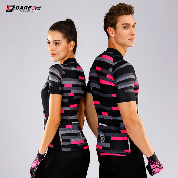 Darevie custom couple  men & lady tops team breathable/quick dry woman   Training Short sleeve cycling clothing