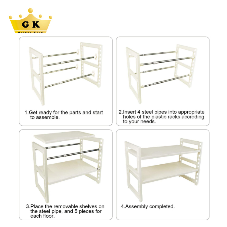 Factory Price Moveable Lower Sink Shelf Easy To Assemble