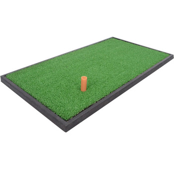 Rubber base golf swing trainer mat with 1PC tee