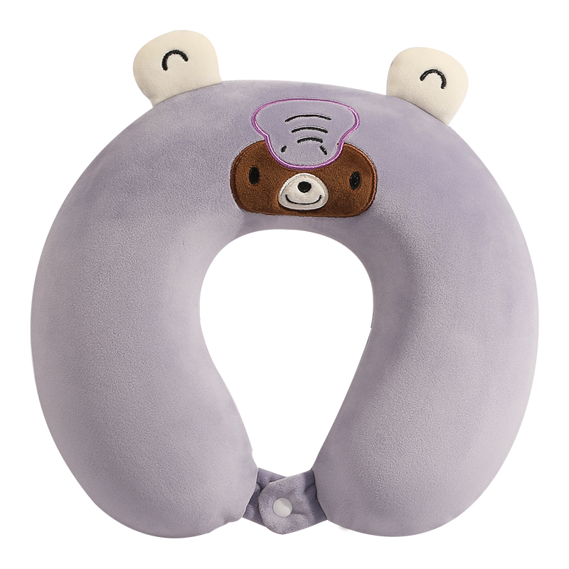 custom cute  animal shape travel memory foam neck pillow