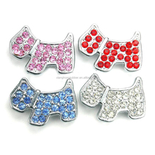 10mm Rhinestone Dog Slide <strong>Charms</strong> Letters DIY Accessories Fit 10mm Belts Bracelets