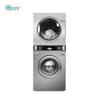 16kg Professional double stack laundromat industrial washing machine price manufacturer