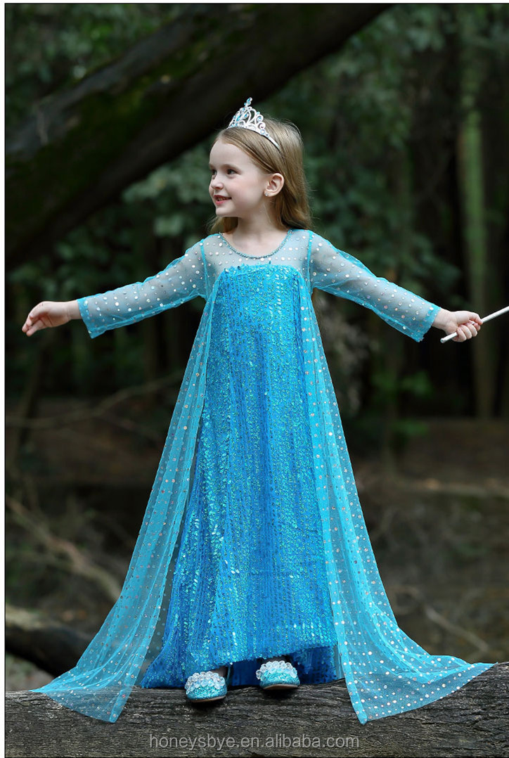 Beautiful Princess Dress for Kids Play Frozen Elsa