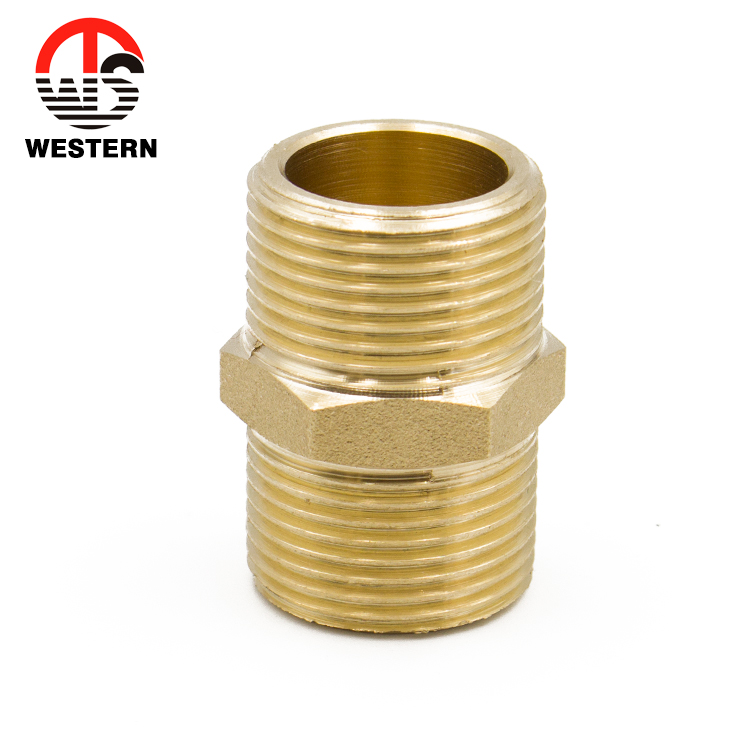 Brass Hexagon Adaptor Male x Male Thread