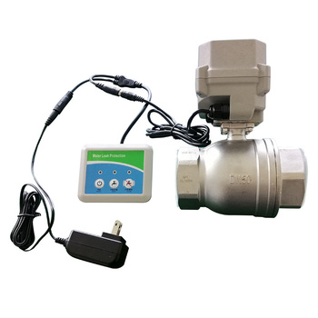 water leak detection detector sensor alarm system with 2 inch motorized valve