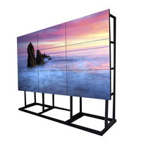 Imported original Korea lcd video wall with 3x3 video wall controller,wall mount rack,HD splitter
