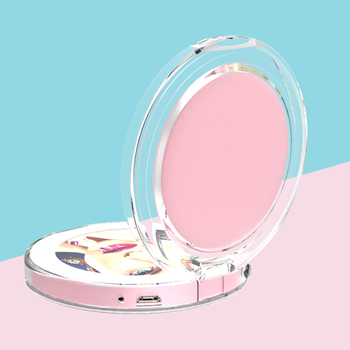 Table folding Ipad Shape Touch LED Lighted Travel Mirror USB Rechargeable Portable Vanity Mirror